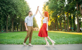 Romantic date, love couple happiness together Stock Images