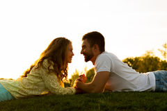 Romantic date. Love story. Royalty Free Stock Photos