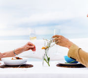 Romantic Date Toast Celebration Party Concept Stock Images