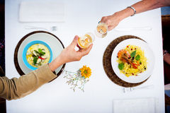Romantic Date Toast Celebration Party Concept Stock Image