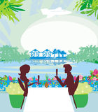 Romantic date on a tropical beach Royalty Free Stock Images