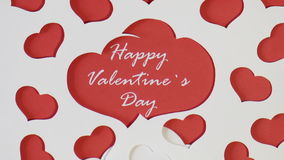 Romantic date. Valentine's day. The video shows footage on the theme of Valentine's Day stock footage