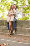 Romantic dating couple in Paris Royalty Free Stock Image