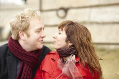 Romantic dating couple in Paris Stock Photo