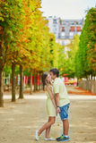 Romantic dating couple in Paris Royalty Free Stock Photography