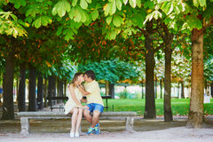 Romantic dating couple in Paris Stock Photography