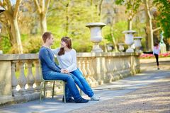 Romantic dating couple in Paris Stock Image