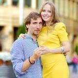 Romantic dating couple portrait Stock Image