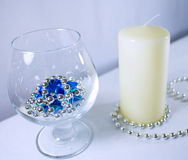 Romantic day with candle. New year or romantic Royalty Free Stock Images