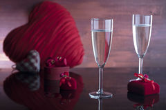 Romantic day concept, Valentine`s day Royalty Free Stock Photos