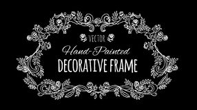 Romantic decor. Frame of branched. Royalty Free Stock Photo