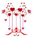 Romantic decoration with hearts stock photos