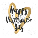 Romantic decorative poster with lettering. Royalty Free Stock Photos