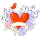 Romantic design. Stylish cartoon illustration Royalty Free Stock Photos