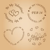 Romantic vector design elements for valentines day Stock Photo