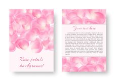Romantic design with rose petals Royalty Free Stock Photo