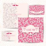 Romantic design set of invitation cards Royalty Free Stock Photo