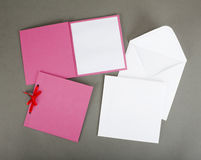 Romantic design set. To be used for postcards, invitations, card Royalty Free Stock Images