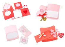 Romantic design set. To be used for postcards, invitations, card Stock Photography