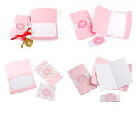 Romantic design set. To be used for postcards, invitations, card Royalty Free Stock Photo