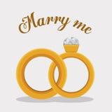 Romantic design, vector illustration. Royalty Free Stock Image