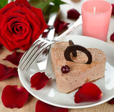 Romantic dessert Stock Image