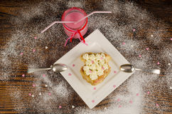 Romantic dessert Stock Images