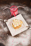 Romantic dessert for Valentines day Royalty Free Stock Photos