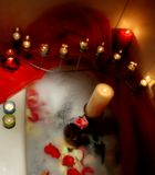 Romantic details in bathtube royalty free stock image