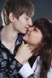 Romantic dialog of young couple Royalty Free Stock Photos