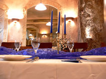 Romantic dining room stock images