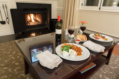 Romantic dining stock photos
