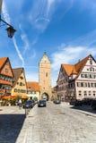 Romantic Dinkelsbühl, city of late Stock Image