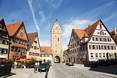 Romantic Dinkelsbuehl, city of late middleages Royalty Free Stock Photo