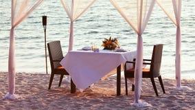 Romantic dinner stock video