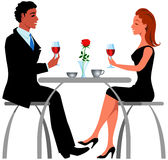 Romantic  dinner. A couple in the restaurant Royalty Free Stock Photo