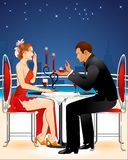 Romantic dinner. The vector graphic version is in eps format, the vector graphic is separated into view layers, can be re sized to any size and editable in adobe Stock Photo