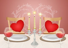 Romantic dinner candlelight. Illustration of romantic dinner candlelight Stock Image