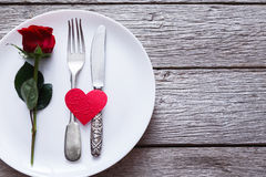 Romantic dinner concept. Valentine day or proposal background Royalty Free Stock Image