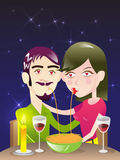 Romantic Dinner / illustration Stock Image