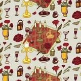 Romantic dinner pattern Royalty Free Stock Photos