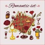 Romantic dinner pattern Royalty Free Stock Photo