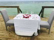 Romantic setup stock photo