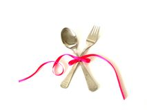 Romantic dinner set stock photo