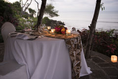 Romantic dinner set Bali royalty free stock image