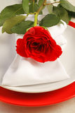 Romantic dinner setting Stock Images