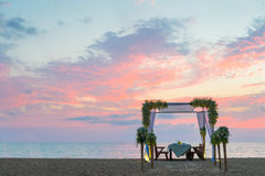 Romantic dinner setting Stock Photos
