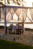 Romantic dinner setup Royalty Free Stock Photo
