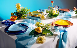 Romantic dinner table Stock Images