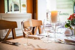 Romantic Dinner Table stock image